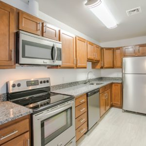Ribbon Mill Apartments new modern kitchens