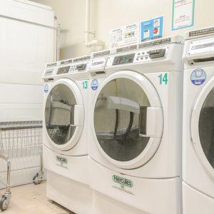 Ribbon Mill Apartments laundry room